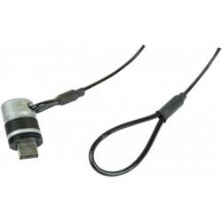 Câble antivol sur port USB...