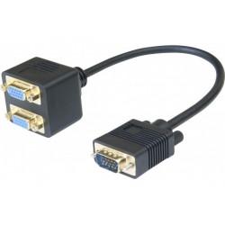 Cable 1 vga /m vers 2 vga...