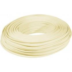 Câble méplat RJ Ivoire 4C -...