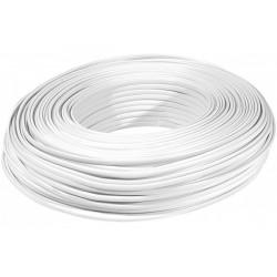 Câble méplat RJ  blanc 6C -...