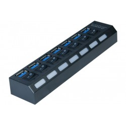 Hub 7 ports USB 3.0 avec...
