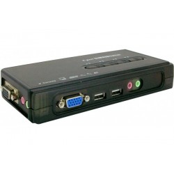 KVM 4 ports VGA/USB avec audio