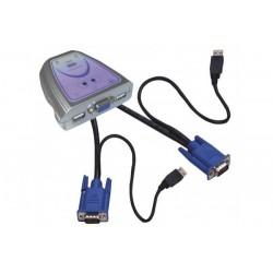 Mini KVM  2 ports VGA/USB...