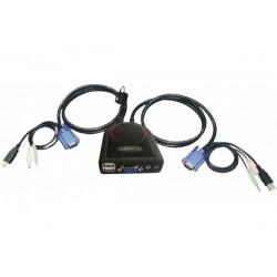 Mini KVM  2 ports VGA/USB +...